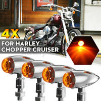 4x Frecce Indicatori Direzione Bullet Moto Per Honda Universali Metallo luce