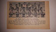 Ft. Riley C.R.T.C. Kansas 1943 Baseball Team Picture Pete Reiser Ken Heintzelman