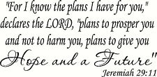 "Jeremiah 29:11 V3 11""x22"" Bible Verse Wall Decal by Scripture Wall Art - Decor"