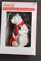 "Kurt Adler Cola Cola Polar Bear with 6 pack of bottles Ornament  3.5"" Tall"