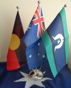 Australia Torres Strait Aboriginal Flag 3 set Desk Flags Table Flags