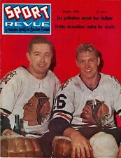 Feb 1960 BOBBY HULL & GLENN HALL Sport Revue Magazine Chicago Blackhawks