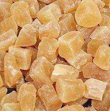 (€13,90/kg) 1kg Ingwer getrocknet kandiert mild, leicht kandiert, Ingwer Stücke