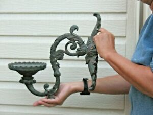 Victorian Bronze Antique Huge Oil Lamp Wall Sconce Orig. 1870s Magnificent Piece