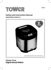 Tower T11001 Bread Machine Owners Manual