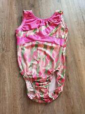 NWT Gymnastics leotard Look-it Camo Hearts Green Florescent Pink Ch//ladies Acro