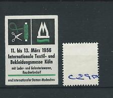 wbc. - CINDERELLA/POSTER - CE90 - EUROPE- INT.TEXTIL - KOLN - 1956