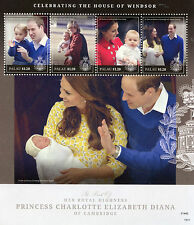 Palau 2015 MNH Princess Charlotte Royal Baby Prince William 4v MS Royalty Stamps