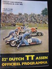 Program Dutch TT Assen 26 juni 1982 (TTC)