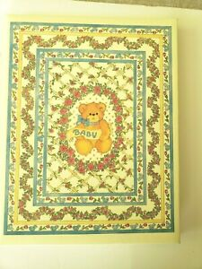 Vintage Baby Book 1986 Teddy Bears Floral Design LUCY Bears, CR Gibson, Unused