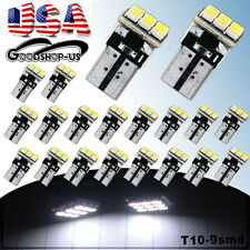 20Pcs Super White T10 Wedge 9SMD 5W Car Dome Map Interior LED Light Bulb W5W 168