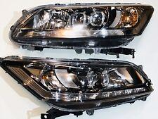 Pair Honda Accord Touring 2013 - 2015 Headlights LED Left And Right Black