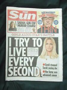 Sun UK Newspaper 13/03/21 March 13th 2021 Sarah Harding Girls Aloud Everard