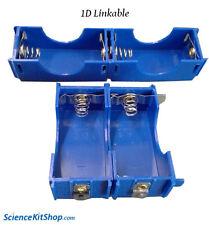 1D Battery Holder Linkable, Plastic (Pack of 10)