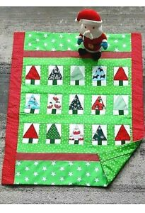 Handmade patchwork baby quilt Christmas tree theme * perfect gift