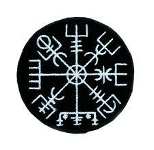 Vegvisir Viking Compass Symbol Patch Iron on Applique Alternative Clothing Norse