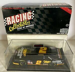 1995 Rusty Wallace #2 Miller Draft Ford Thunderbird action Diecast BANK  1:24