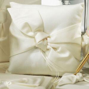 Beverly Clark The Love Knot IVORY Pillow - Wedding Bridal Ceremony Ring Bearer