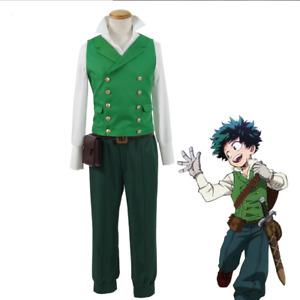 My Hero Boku no Academia Izuku Midoriya Deku Cosplay Costume Halloween Suit New