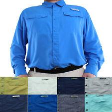 Habit Outdoor Shirt Men's Fishing Casual Long Sleeve Button Down Solar Factor