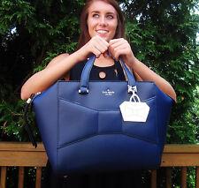 Kate Spade NY LARGE 2 Park Avenue Beau Bag NWT NAVY BLUE SHOPPER HANDBAG LUXE