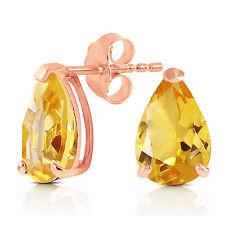 3.15 Carat 14K Solid Rose Gold Allure Citrine Stud Earrings