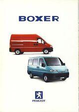 Peugeot Boxer 1998 catalogue brochure polonais rare