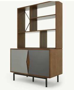 Ex-Display Made.Com Louis Highboard, Walnut and Charcoal