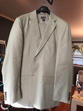 Mens Linen Cotton Suit Beige/Tan 40r H&M
