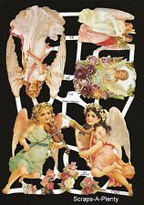 German Victorian Style Scrap Die Cut - Easter / Christmas Angel CUTE   EF7135