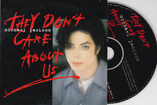 CD CARTONNE CARDSLEEVE 2T MICHAEL JACKSON THEY DON'T CARE ABOUT US 1996