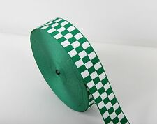 Assorted UK Ambulance - Medical Service Cap Ribbon - Green & White - Diced