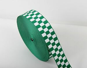 Assorted UK Ambulance - Medical Service Cap Ribbon - Green & White - Diced