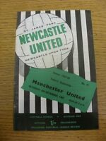 09/12/1967 Newcastle United v Manchester United  (Score Noted On Cover & Team Ch