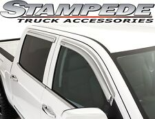 Stampede 6349-8 Chrome Tape-Onz Window Visors Vents 07-15 Toyota Tundra Crewmax