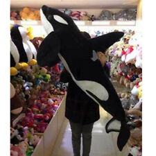 51'' Giant Big Simulation Black Shark Killer Whale Plush Toy Stuffed Animal Doll