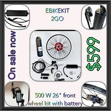 Electric Bike 500W Front Wheel Kit With 36V 10ah Lithium Battery  ,Complete Kits