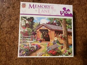 MasterPieces  Memory Lane 1000 Piece Jigsaw Puzzle Garden Bridge