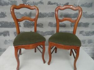 2 chaises louis philippe