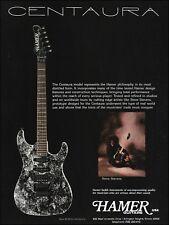 Steve Stevens 1990 Hamer Custom Centaura guitar ad 8 x 11 advertisement print