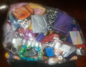 """Lot of 18 """"PAIRS"""" of bratz dolls shoes, scooter, clothes, bags & accessories++"""