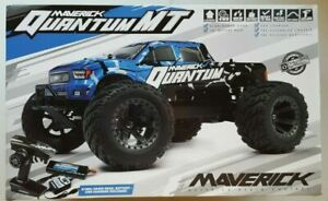 Maverick Quantum MT 1/10 4WD Monster Truck RTR 2.4GHz Battery Chargr Blue 150100