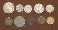 1925 - 1943 MIXED LOT BULGARIA KINGDOM LEVA 10 COINS