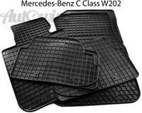 Rubber Black Floor Mats for Mercedes-Benz C-Class W202 1993-2001 LHD NEW