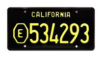 ADAM-12 | LAPD Malloy's Belvedere | E534293 | STAMPED Replica Prop License Plate