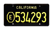 ADAM-12 | LAPD Malloy's Belvedere | E534293 | STAMPED Replica Prop License Plate