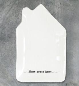 Wobbly Porcelain Dish - Home Sweet Home. Trinket, teabag holder, spoon rest