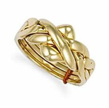 9Carat Yellow Gold Puzzle Fine Rings without Stones