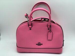 New COACH Mini Sierra Satchel Crossbody Bag - Crossgrain Leather - F28718