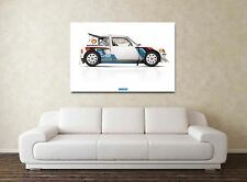 Peugeot 205 T16 - 30x20 Inch Canvas - Framed Picture Print Group B Rally